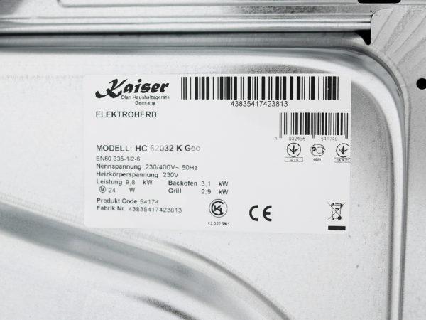Плита склокерамічна Kaiser HC 62032 K Geo