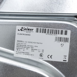 Плита склокерамічна Kaiser HC 52082 KW Marmor