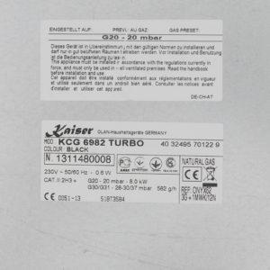 Газова варильна поверхня Kaiser KCG 6982 Turbo