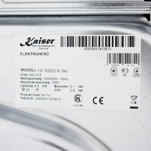 Плита склокерамічна Kaiser HC 62022 KS Matt Moire