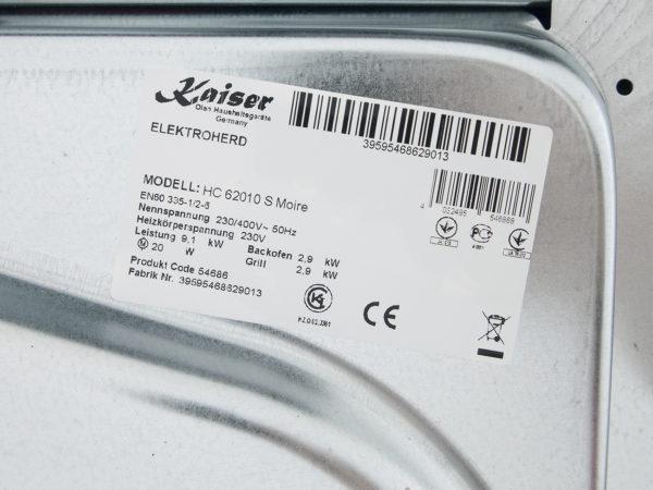 Плита склокерамічна Kaiser HC 62010 S Moire