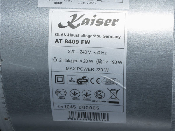 Витяжка Kaiser AT 8409 FW