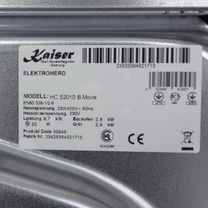 Плита склокерамічна Kaiser HC 52010 B Moire
