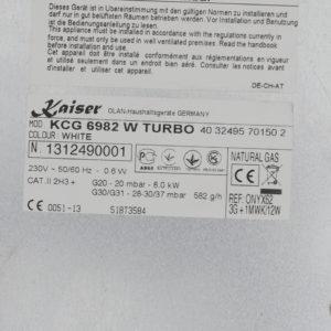 Газова варильна поверхня Kaiser KCG 6982 W Turbo