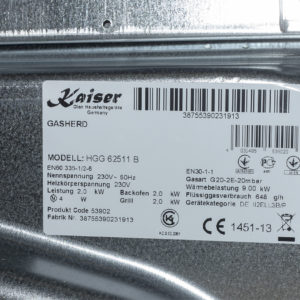 Плита газова Kaiser HGG 62521 KB